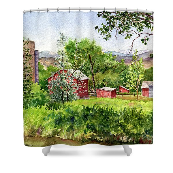 Hidden Farm Shower Curtain