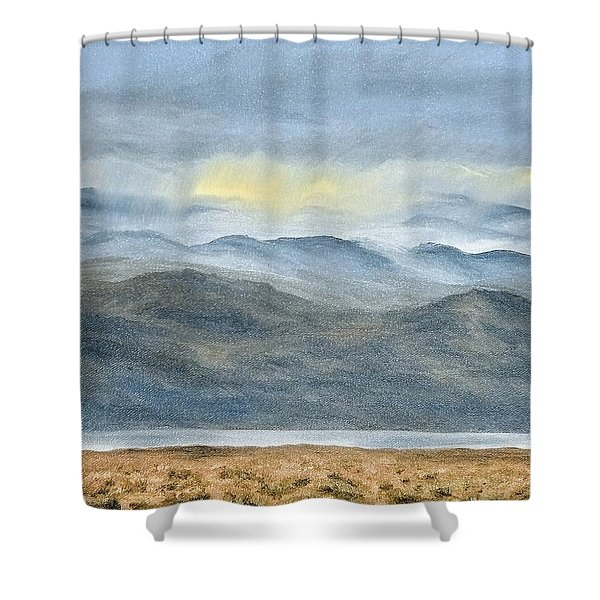 Shower Curtain featuring the painting High Desert Morning by Kevin Daly