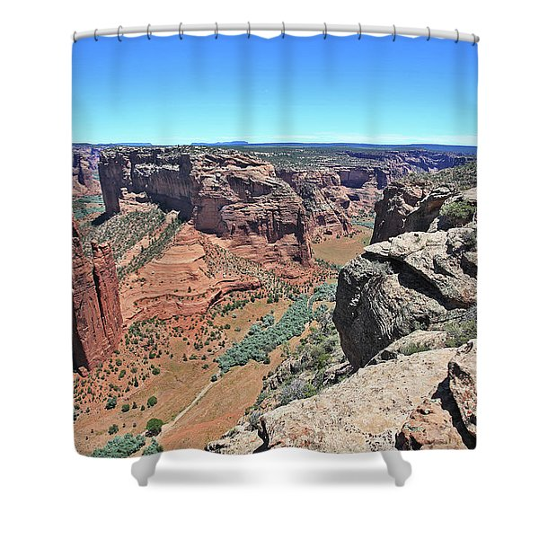 High Noon At Spider Rock Shower Curtain
