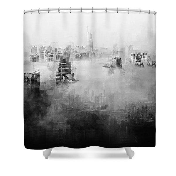Shower Curtain featuring the digital art High Society by ISAW Company