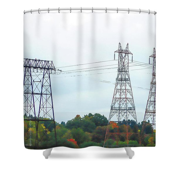 High-voltage Power Transmission Towers  2 Shower Curtain