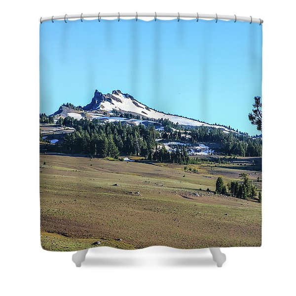 Shower Curtain featuring the photograph Hillman Peak Crater Lake National Park by Dawn Richards