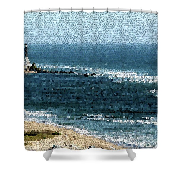 Hillsboro Lighthouse Mosaic 1005 Shower Curtain