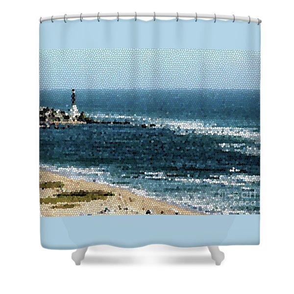 Hillsboro Lighthouse Mosaic 1005 Shower Curtain