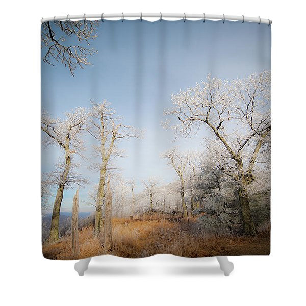 Hilltop Hoarfrost Shower Curtain