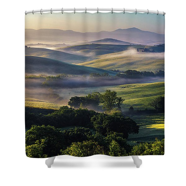 Hilly Tuscany Valley Shower Curtain