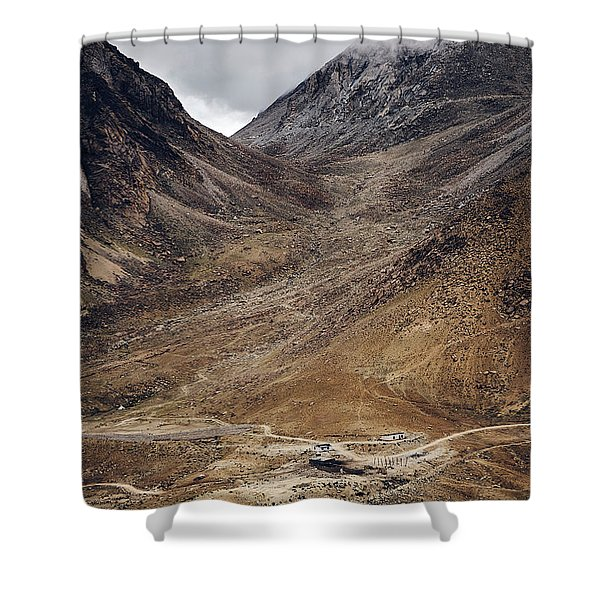Shower Curtain featuring the photograph Himalayan Outpost by Whitney Goodey