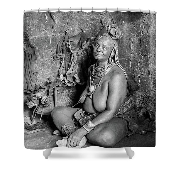 Himba Grand Mother Shower Curtain