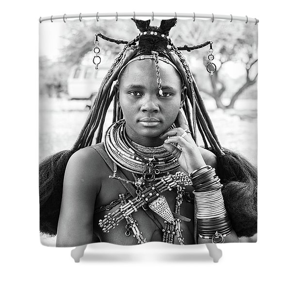 Himba Style Girl Shower Curtain