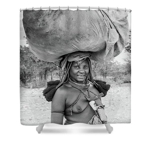 Himba Woman 2 Shower Curtain