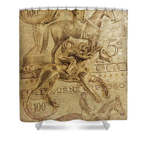 Historic Horse Racing Shower Curtain