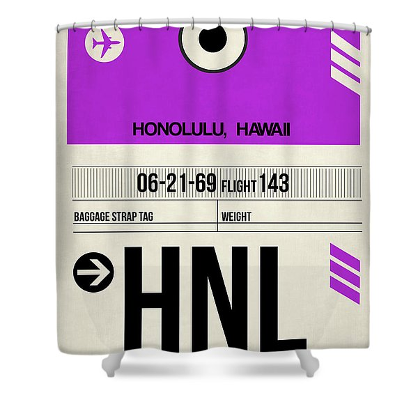 Hnl Honolulu Luggage Tag I Shower Curtain