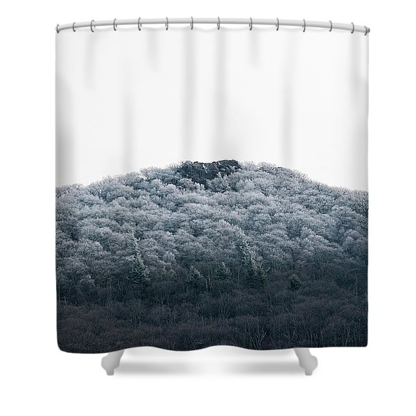 Hoarfrost On The Mountain Shower Curtain