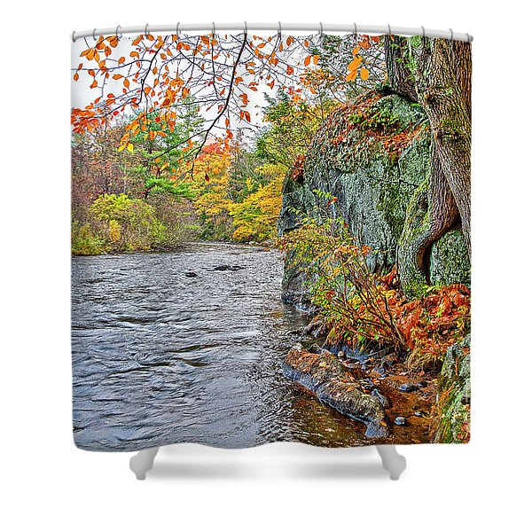 Hogback Dam Pool Shower Curtain
