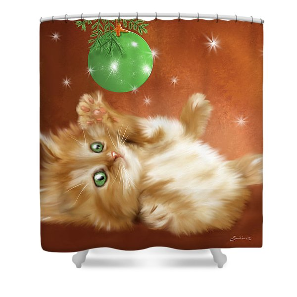 Holiday Kitty Shower Curtain
