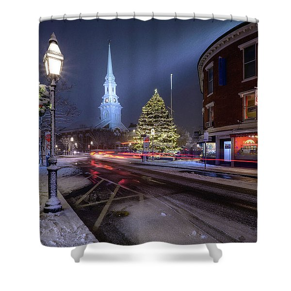 Holiday Magic, Market Square Shower Curtain
