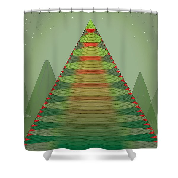 Holotree Shower Curtain