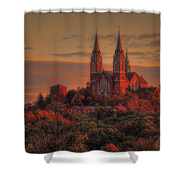 Holy Hill Sunrise Shower Curtain