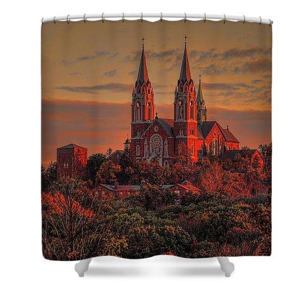 Holy Hill Sunrise Shower Curtain