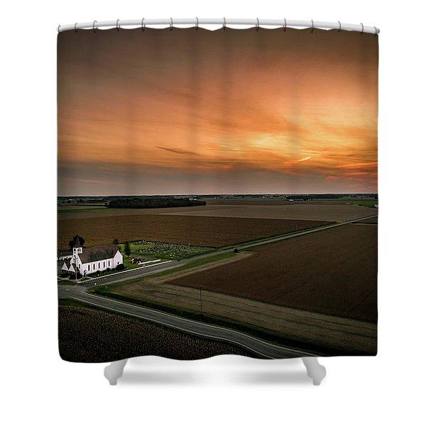 Holy Sunset Shower Curtain