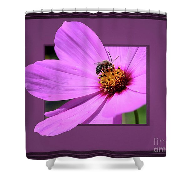Honey Bee On Pink Shower Curtain