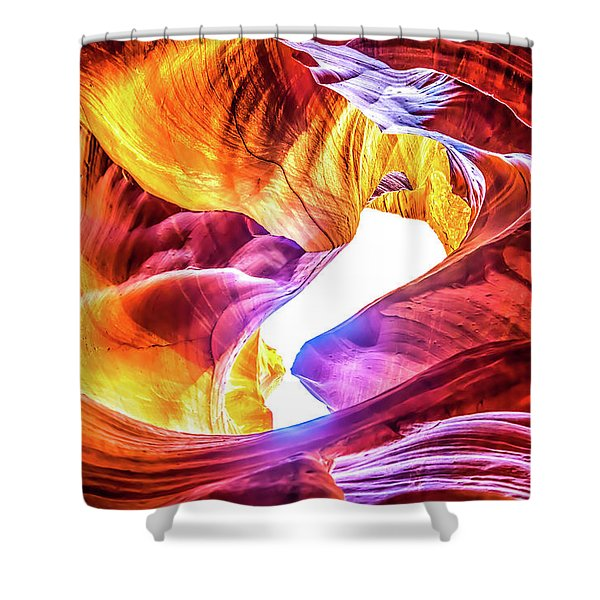 Honeycomb Swirls Shower Curtain