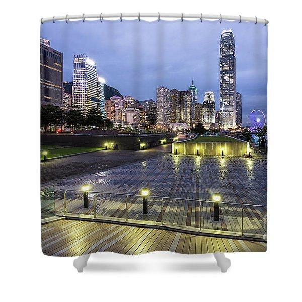 Hong Kong Twilight Shower Curtain