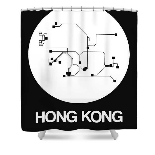 Hong Kong White Subway Map Shower Curtain