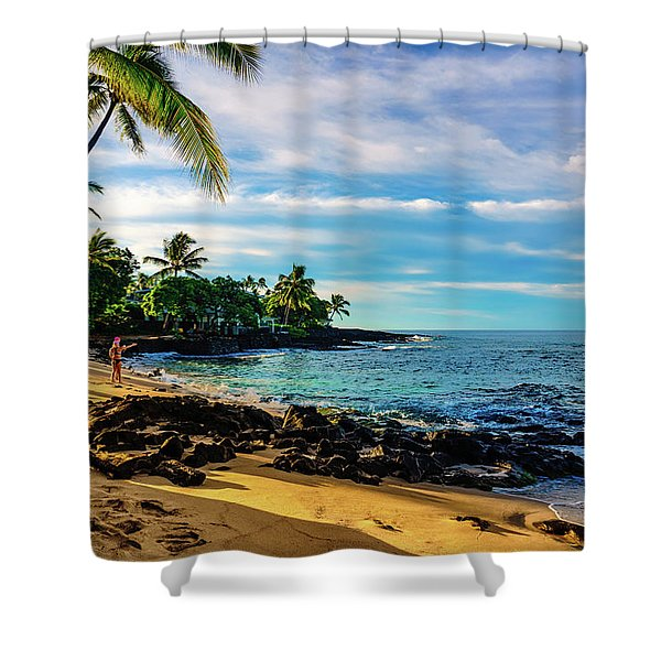 Honl Beach Shower Curtain