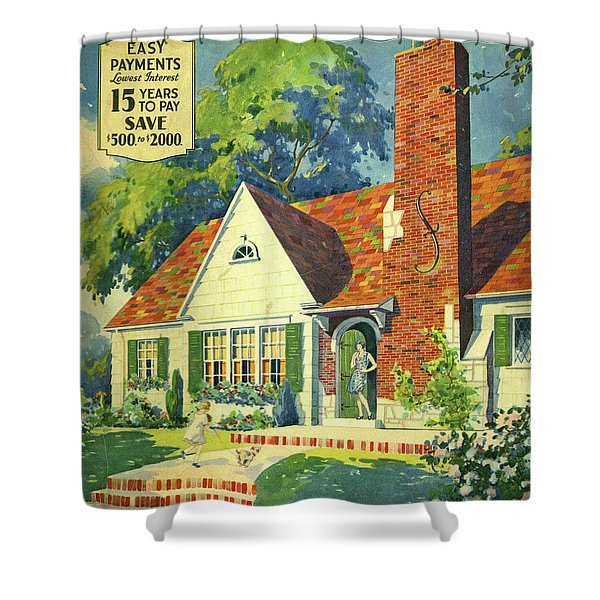 Honor Bilt Modern Homes Sears Roebuck And Co 1930 Shower Curtain