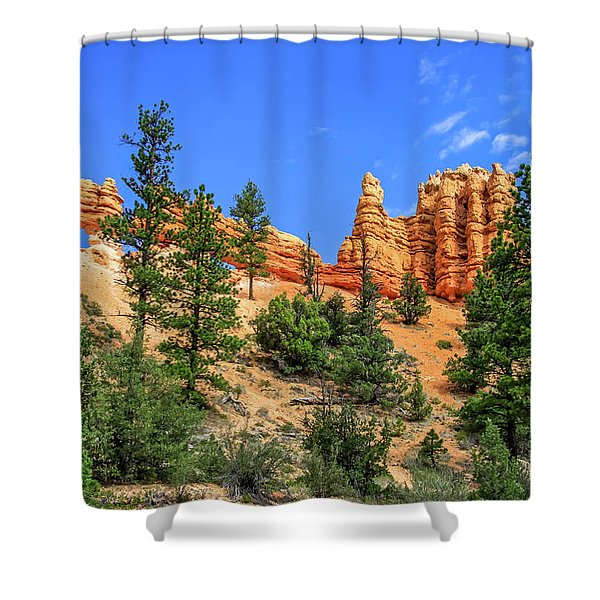 Shower Curtain featuring the photograph Hoodoo Heaven by Dawn Richards
