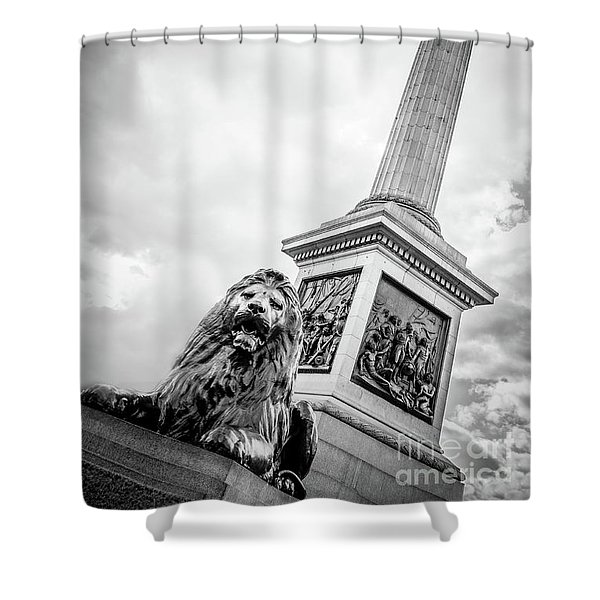 Horatio And The Lion Shower Curtain