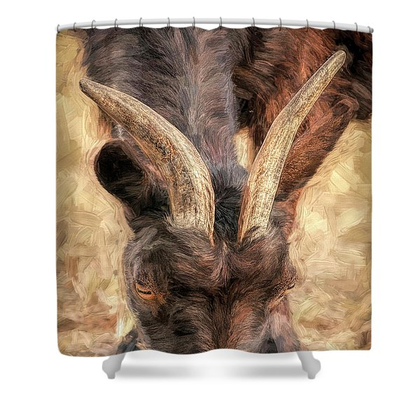 Horns Authority Shower Curtain