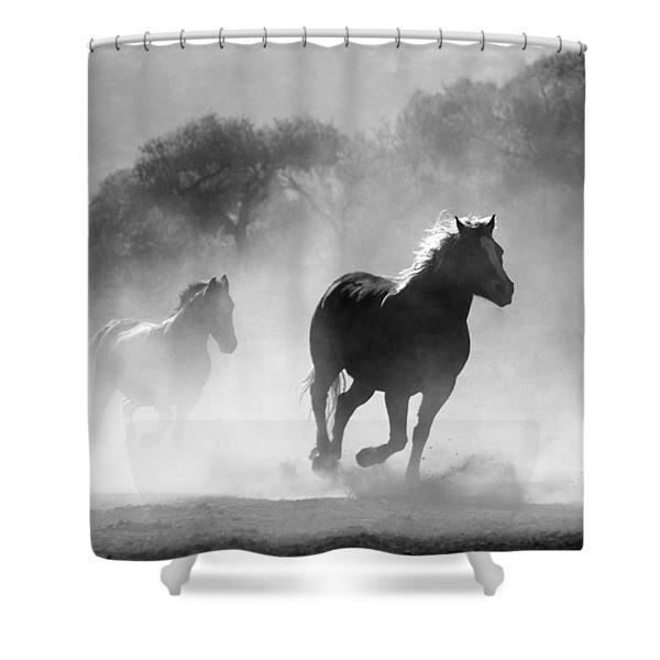 Horses On The Run Shower Curtain
