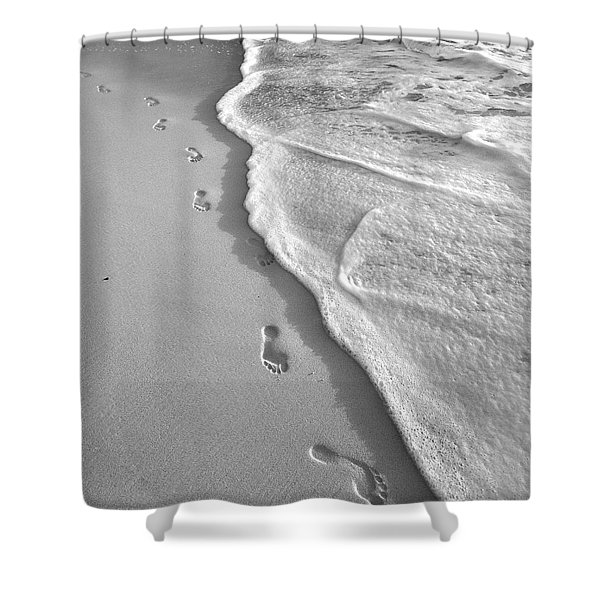Horseshoe Bay Beach Bermuda Footprints Shower Curtain