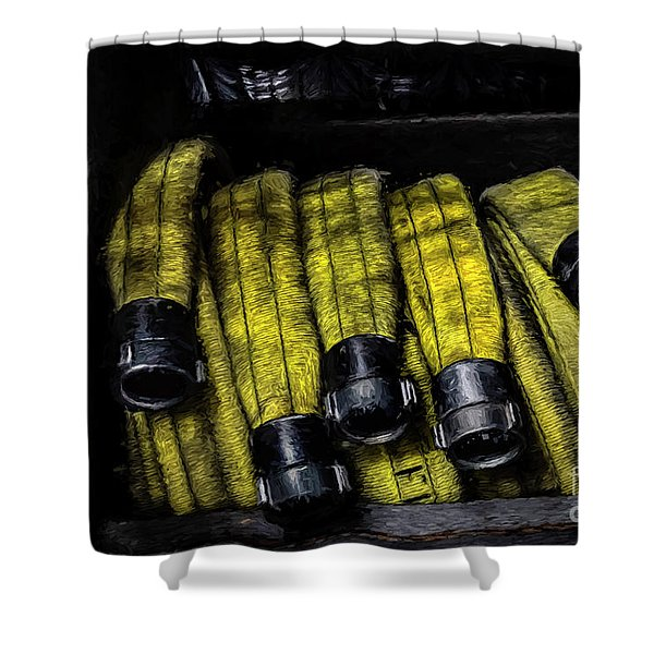 Hose Rack Shower Curtain