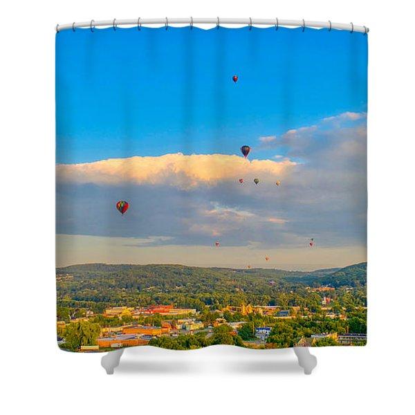 Hot Air Ballon Cluster Shower Curtain