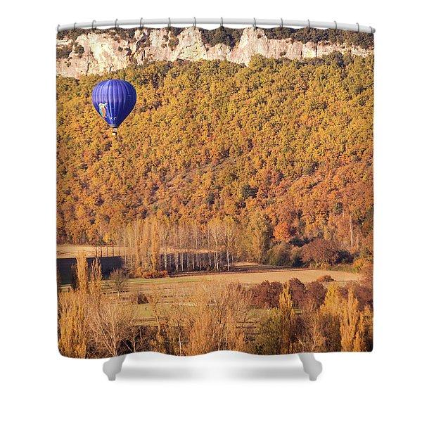 Hot Air Balloon, Beynac, France Shower Curtain