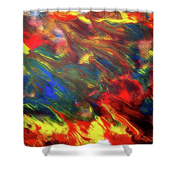 Hot Colors Coolling Shower Curtain