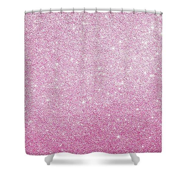 Hot Pink Glitter Shower Curtain