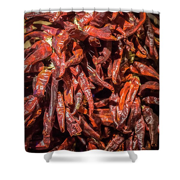Hot Spicy Peppers Shower Curtain