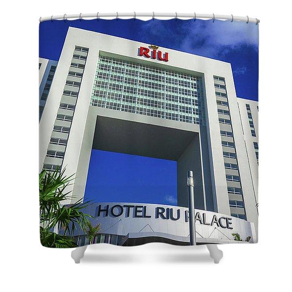 Hotel Riu Palace In Cancun Shower Curtain