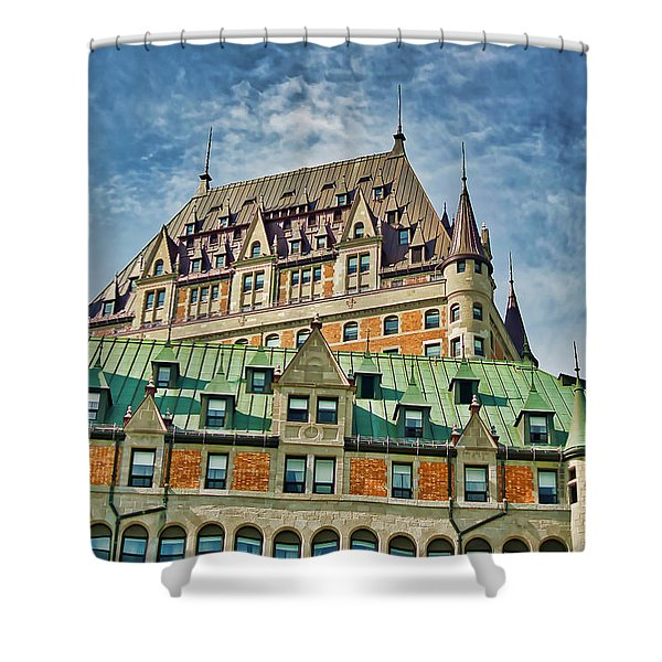 Shower Curtain featuring the photograph Hotel Roof by Meta Gatschenberger