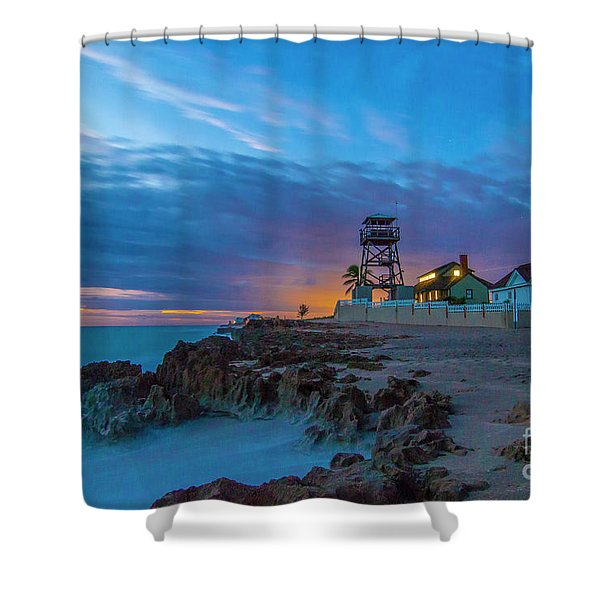 Shower Curtain featuring the photograph House Of Refuge Morning by Tom Claud