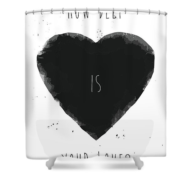 How Deep Is Your Love? Shower Curtain