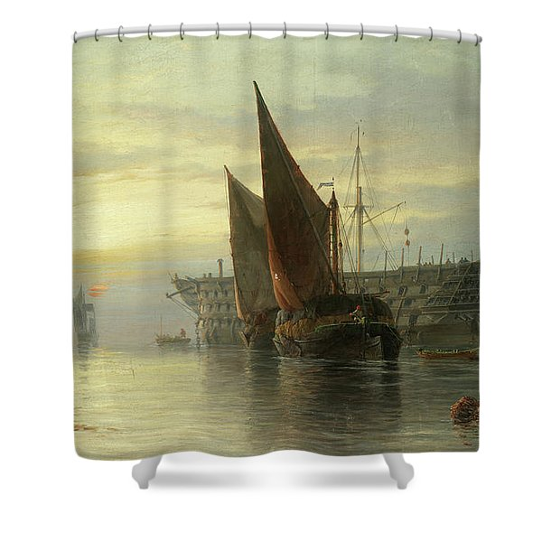 Hulks At Rest, Sunrise Shower Curtain