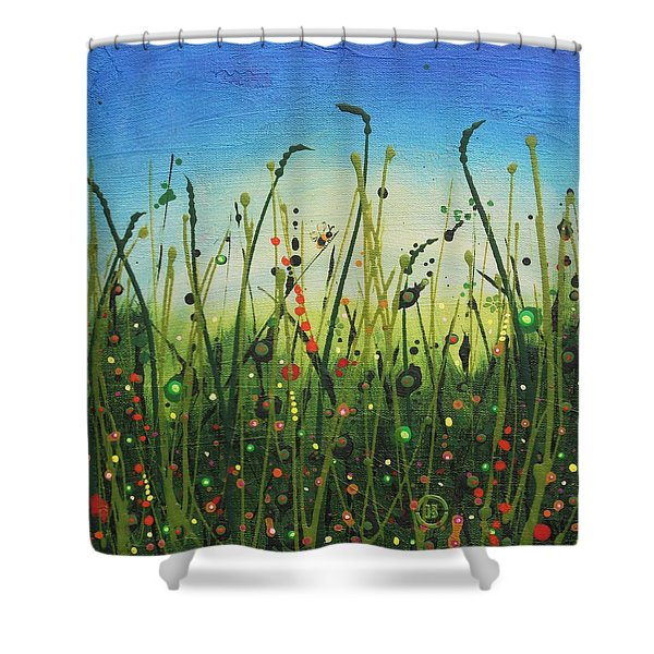 Humble Bumble Shower Curtain