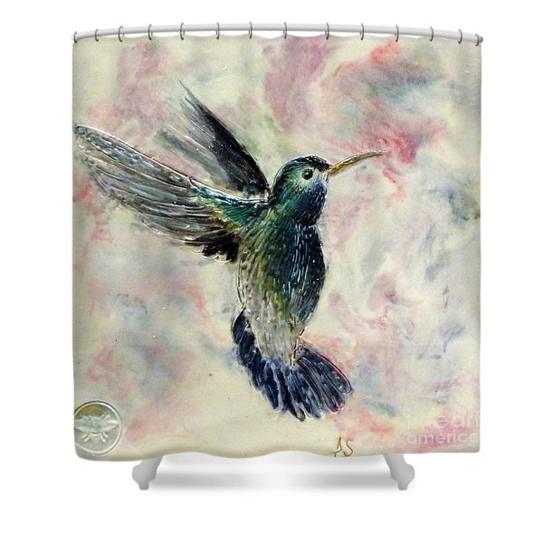 Hummingbird Flight Shower Curtain