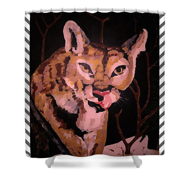 Hungry Cougar Paint 2 Shower Curtain