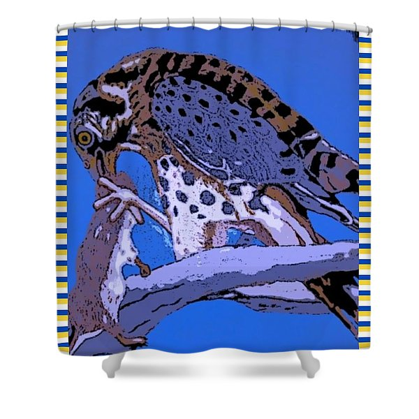 Hungry Falcon Shower Curtain